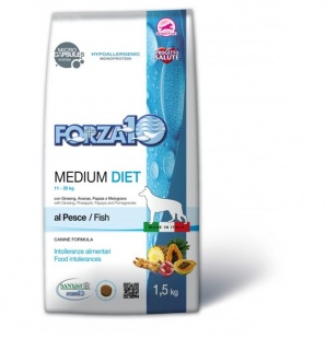 Сухой корм Forza 10 Medium Diet Pesce Рыба 1,5 кг